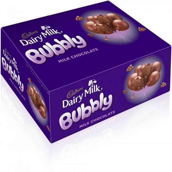 Cadbury Dairy Milk Bubbly Milk Chocolate Full Box 12 pcs