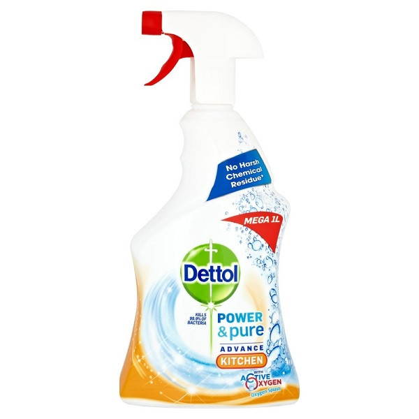Dettol Power and Pure Kitchen Cleaner Spray-1 Litre