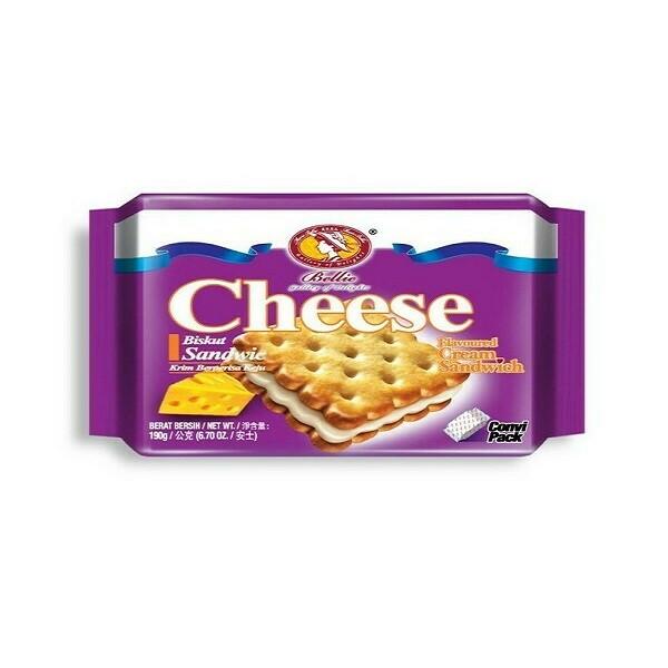 Bellie Cream Sandwich Biscuit - Cheese 190g