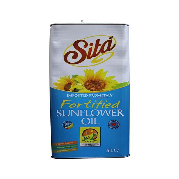 Sita Sunflower Oil Tin 5 ltr-TIN