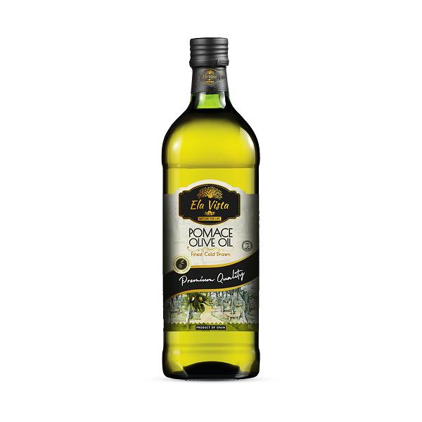 Ela Vista Pomace Virgin Oil 1 Liter Glass Bottle